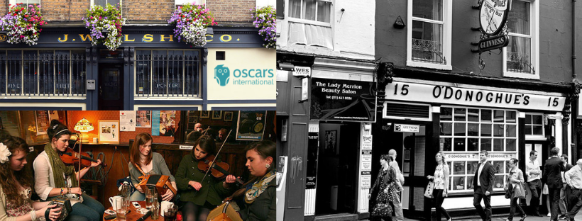 Traditional Irish music venues as recommended by Oscars International Dublin